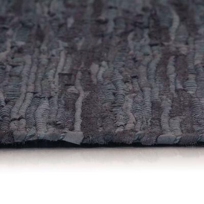 vidaXL Vloerkleed Chindi handgeweven 190x280 cm leer grijs