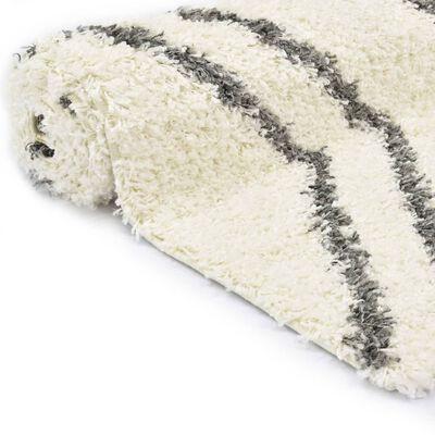 vidaXL Tapijt Berber shaggy hoogpolig 120x170 cm PP beige en grijs