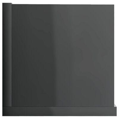vidaXL Cd-wandschap 100x18x18 cm spaanplaat hoogglans grijs, HighGlossGrey