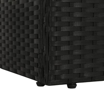 vidaXL Tuinbed 195x60 cm poly rattan zwart