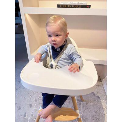CHILDHOME Voedingsschaal met hoes Evolu siliconen wit
