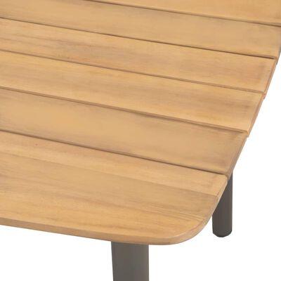 vidaXL Tuintafel 80x80x72 cm massief acaciahout en staal