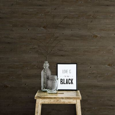Grosfillex 15 st Wandtegels Gx Wall+ 15x90 cm donkereikenkleurig