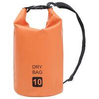 vidaXL Drybag 10 L PVC oranje
