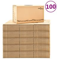 vidaXL Verhuisdozen 100 st XXL 60x33x34 cm karton