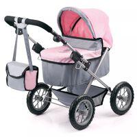 Bayer poppenwagen Trendy grijs/roze 67 cm