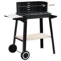 vidaXL Houtskoolbarbecue staand met wieltjes