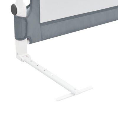 vidaXL Bedhekje peuter 102x42 cm polyester grijs