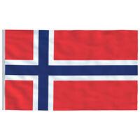 vidaXL Vlag Noorwegen 90x150 cm