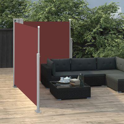 vidaXL Windscherm uittrekbaar 140x600 cm bruin