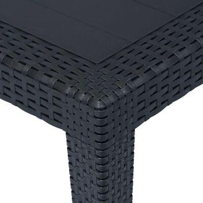 vidaXL Tuintafel 150x90x72 cm rattan-look kunststof antraciet