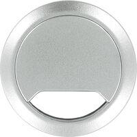Kabeldoorvoer aluminium zilver 80 mm - Elektra kabeldoorvoeren buizen