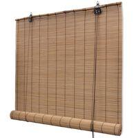 vidaXL Rolgordijn 100x160 cm bamboe bruin