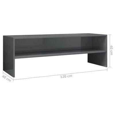 vidaXL Tv-meubel 120x40x40 cm spaanplaat hoogglans grijs