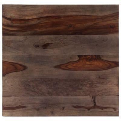 vidaXL Salontafel 60x60x35 cm massief sheeshamhout grijs