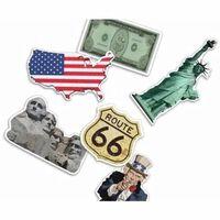 24x stuks Confetti Amerika USA thema versiering feestartikelen