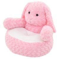 vidaXL Knuffel konijn pluche roze