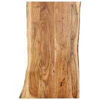 vidaXL Tafelblad 100x(50-60)x2,5 cm massief acaciahout