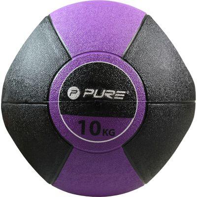 Pure2Improve Medicijnbal met handvatten 10 kg paars