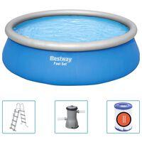 Bestway Zwembadset Fast Set opblaasbaar rond 457x122 cm