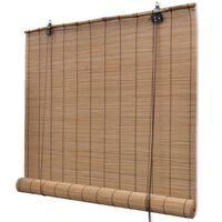 vidaXL Rolgordijn 120x220 cm bamboe bruin