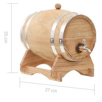 vidaXL Wijnvat met kraantje 6 L massief grenenhout