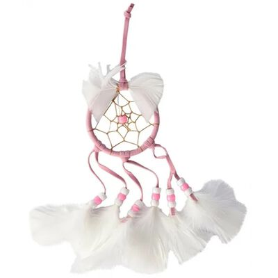 spiegelhanger dromenvanger 17 x 7 cm roze