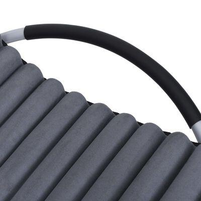 vidaXL Ligbed met kussen staal grijs