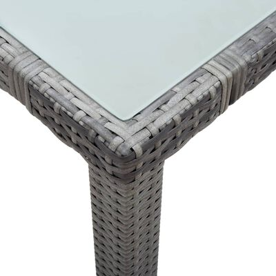 vidaXL Tuintafel 150x90x75 cm poly rattan wit
