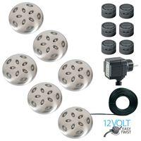 Luxform LED-grondspots Thalos 12 V zilver 6 st 87665