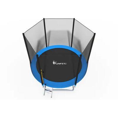 Viking Sports Trampoline blauw 252 cm met net en ladder tot 100 KG