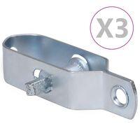 vidaXL Draadspanners 3 st 90 mm staal zilverkleurig
