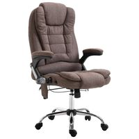 vidaXL Massage kantoorstoel polyester bruin