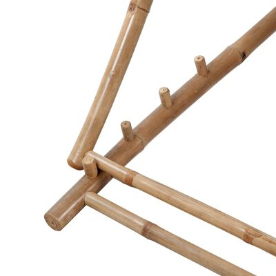 vidaXL Terrasstoel bamboe en canvas
