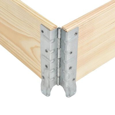 vidaXL Plantenbak verhoogd 60x80 cm massief grenenhout