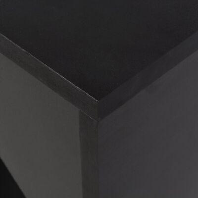 vidaXL Bartafel met verplaatsbaar schap 138x40x120 cm zwart