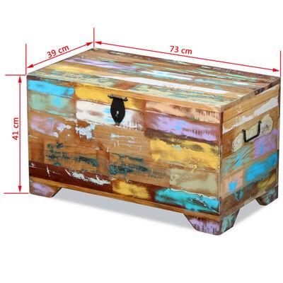 vidaXL Opbergkist massief gerecycled hout
