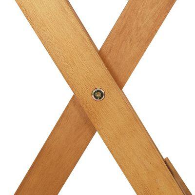 vidaXL Tuintafel inklapbaar 90x90x75 cm massief acaciahout