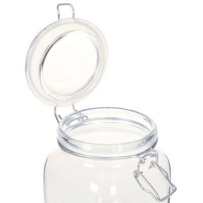 vidaXL Potten met sluiting 12 st 1 L glas
