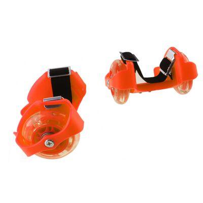 Playfun hielwieltjes met lichtjes junior oranje 2 stuks
