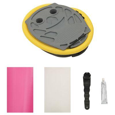 vidaXL Gymnastiekrol met pomp opblaasbaar 120x75 cm PVC roze