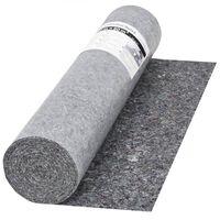 vidaXL Schildersvlies anti-slip 50 m 280 g/m² grijs