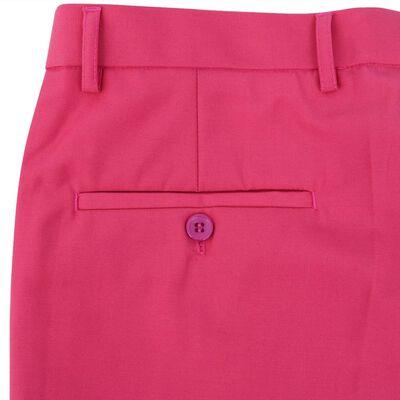 vidaXL Tweedelig pak met stropdas roze mannen maat 54