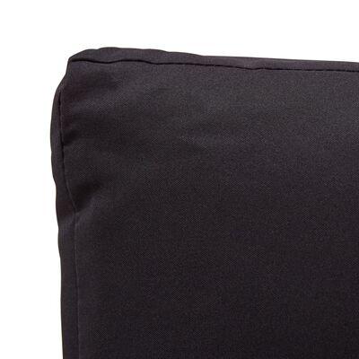 vidaXL Tuinbank 2-zits met kussens 124 cm poly rattan zwart