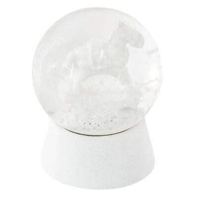Sneeuwbol   Ø 5*6 cm   Wit   Polyresin / glas   rond   hobbelpaard  