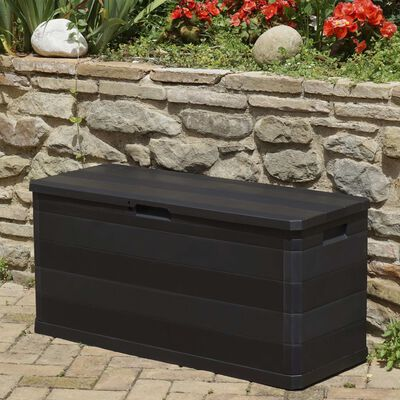 vidaXL Tuinbox 117x45x56 cm zwart