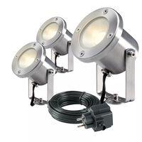 Garden Lights LED-spotlight Catalpa RVS 3 stuks 4121603