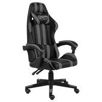 vidaXL Racestoel kunstleer zwart en grijs