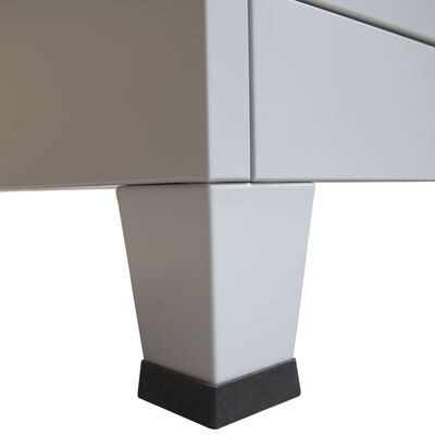 vidaXL Lockerkast met 9 vakken 90x45x180 cm staal grijs