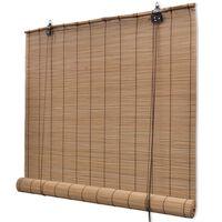 vidaXL Rolgordijn 80x220 cm bamboe bruin